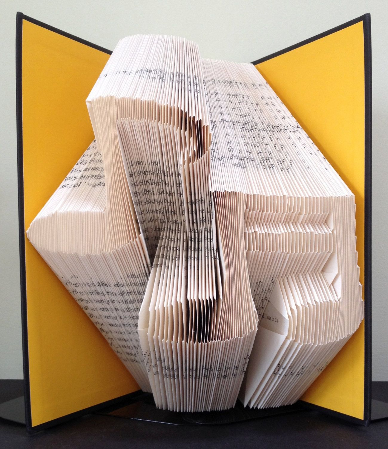MUSICAL NOTES   Book Folding Pattern. DIY Gift For Book Art. Template With  Step By Step Instructions. Very Easy, No Measuring Required