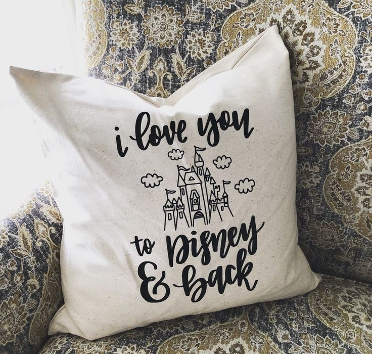 I love you to Disney and Back Castle Home Decor Farmhouse Decorative Pillow