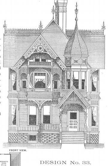 Barber Design #33A   Victorian architecture, Victorian ...