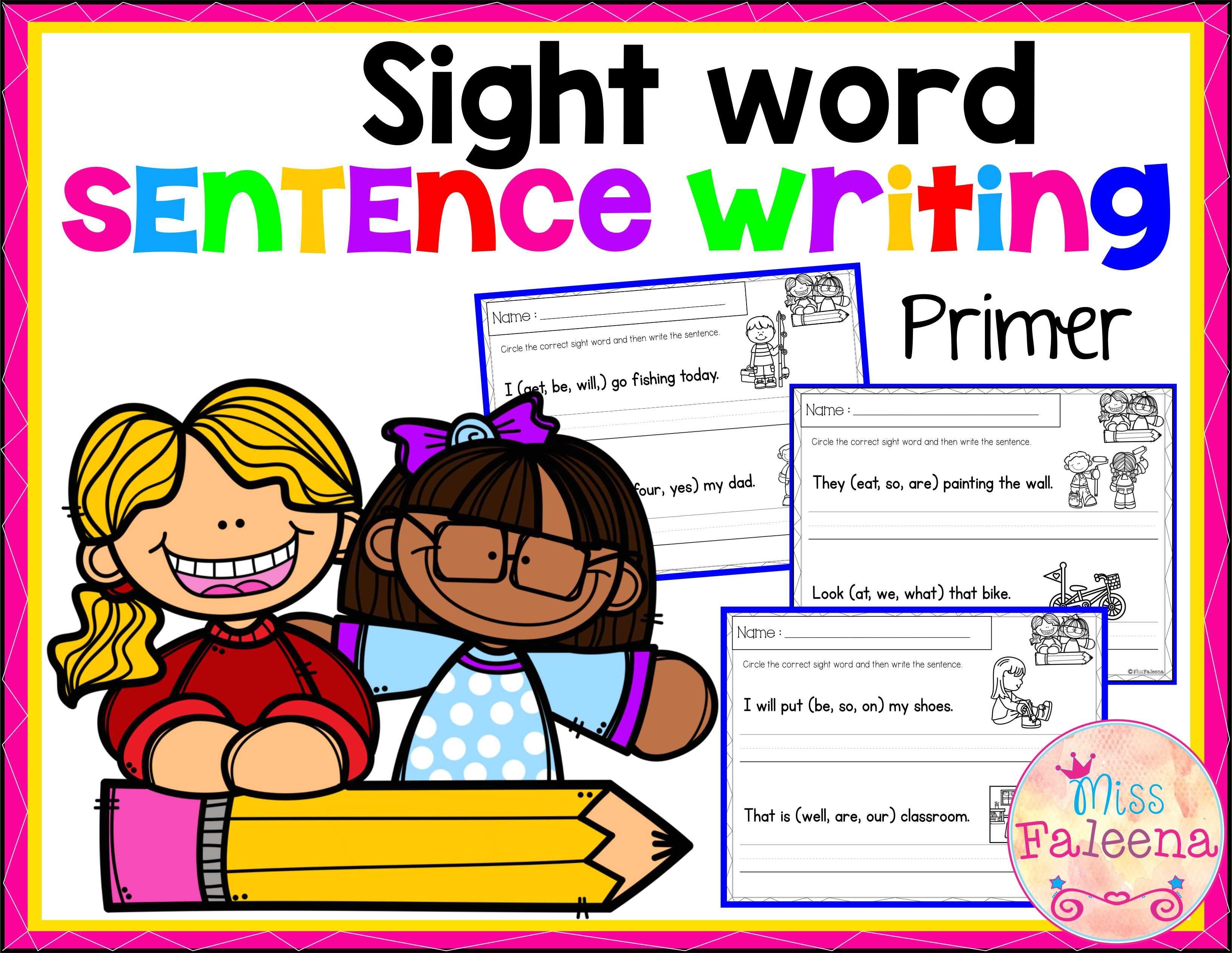 Sight Word Sentence Writing Primer