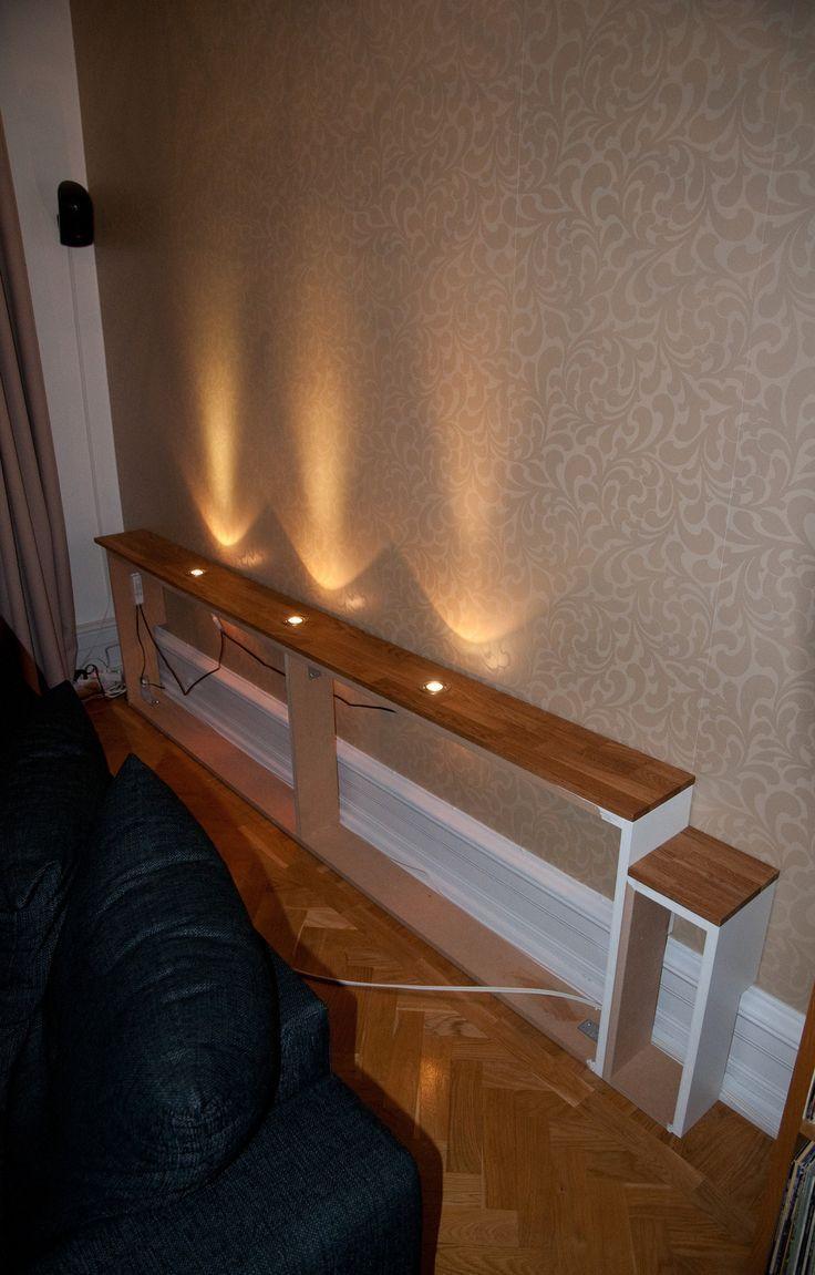 Idée d'éclairage et d'étagère derrière le canapé – # éclairage #dem # pour # derrière #Idee