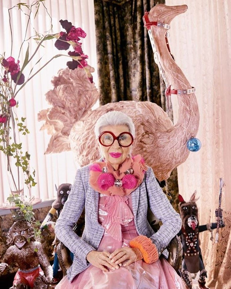 The Flash and Glam of Pop Culture - Iris Apfel by Luis Monteiro