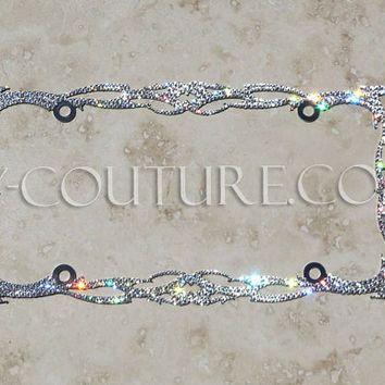 crystal twilight bling license plate frame with swarovski