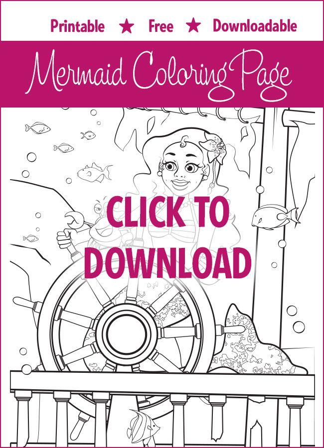 Free Mermaid Coloring Page - Destiny | Mermaid coloring ...