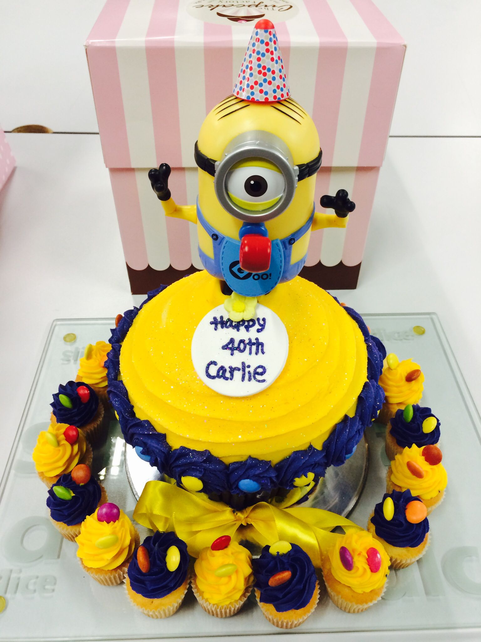 Carlies Awesome Birthday Cake Despicable Me Minion Cupcake