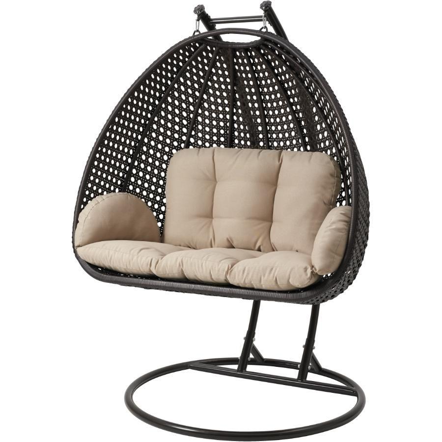 Montauk wicker double hanging basket chair basket chair