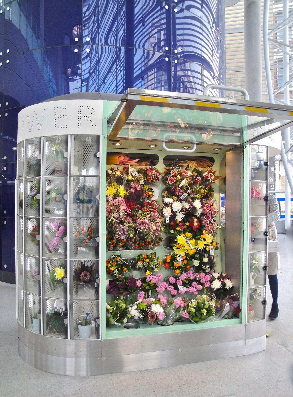 Tfl Image Flower Kiosk Vending Machine 2 Transport For London Flickr Flower Shop Design Flower Shop Interiors Flower Shop Display