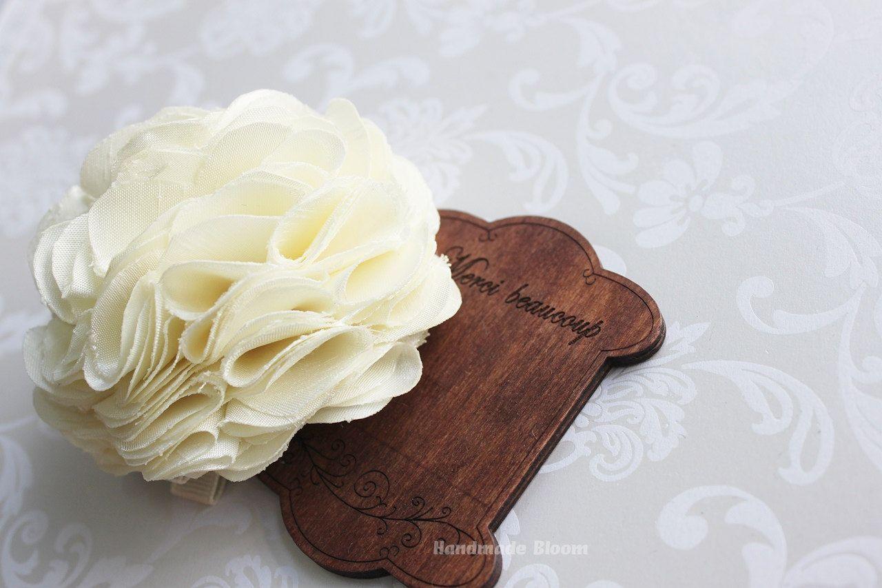 Wedding Hair Accessories Ivory Silk Flower Great Clip For Wedding