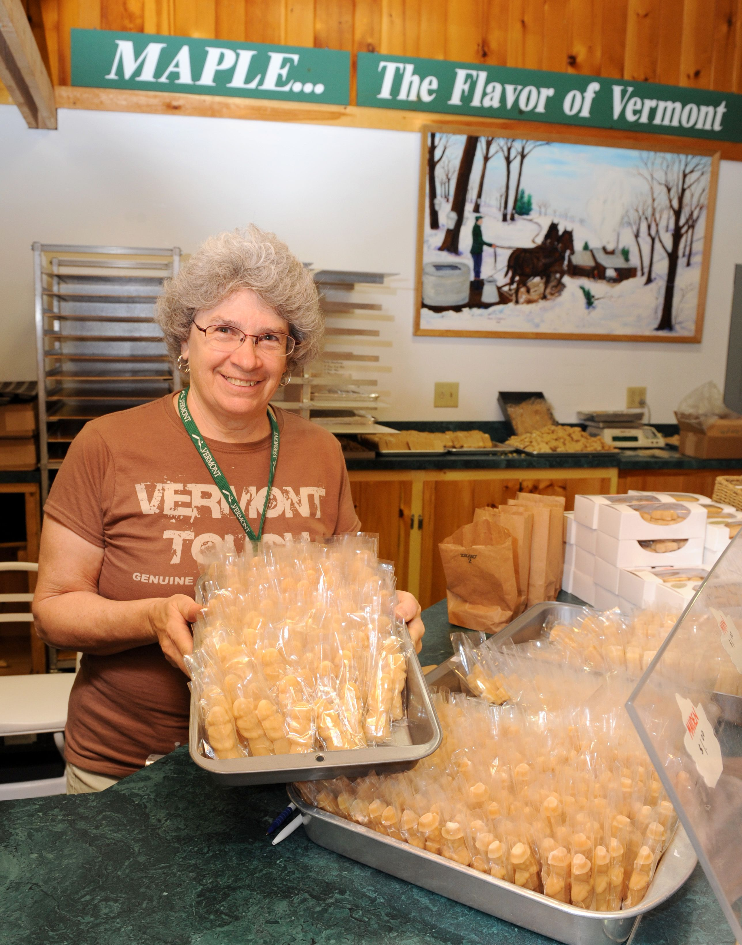 Vermont is famous for its maple syrup. One look at these homemade maple candies and you'll be taking these sugary snacks home for the whole family to enjoy.