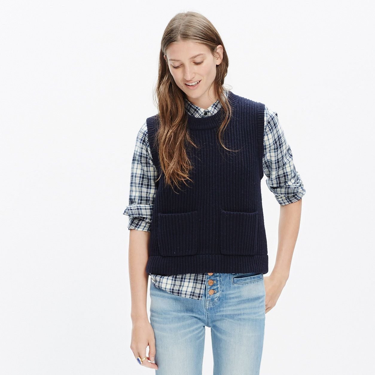 Merino Ribbed Sweater-Vest : sweaters | Madewell | What to wear ...
