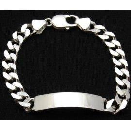 306dff301968 Esclava de plata con eslabón barbado cuadrado
