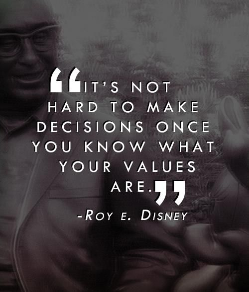 Your values are the foundation to everything you do in life, every decision you make, and all that you stand for.