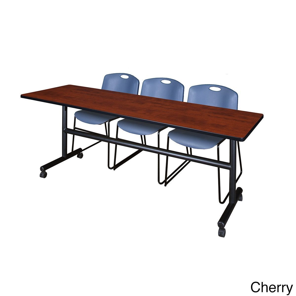 Office folding tables regency seating kobe blue fliptop inch mobile training table and