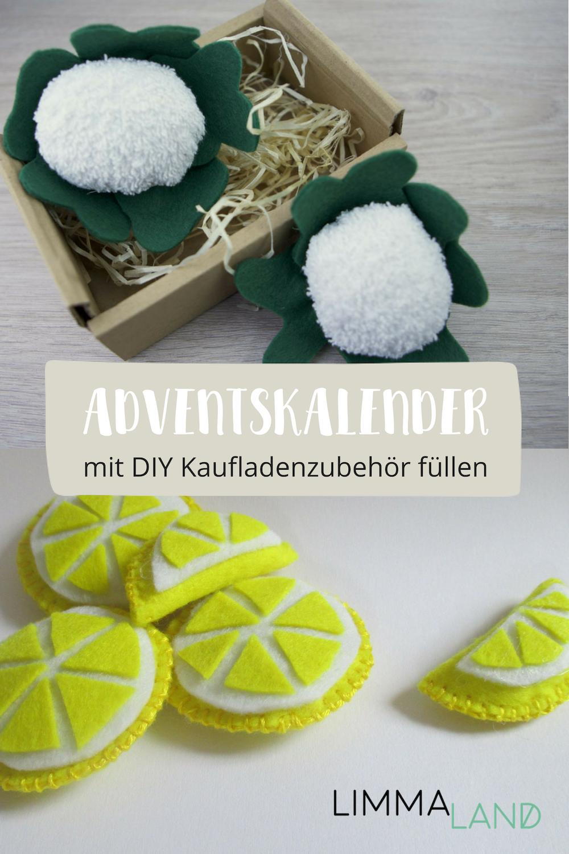 Adventskalender füllen: Mit DIY Zubehör für Kaufladen & Kinderküche #adventskalenderbasteln