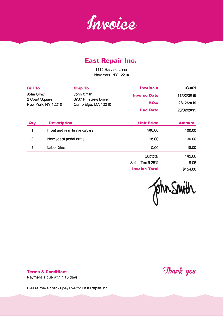 Invoice Template Us Pink Frosting Invoice Template Invoice Design Template Invoice Design