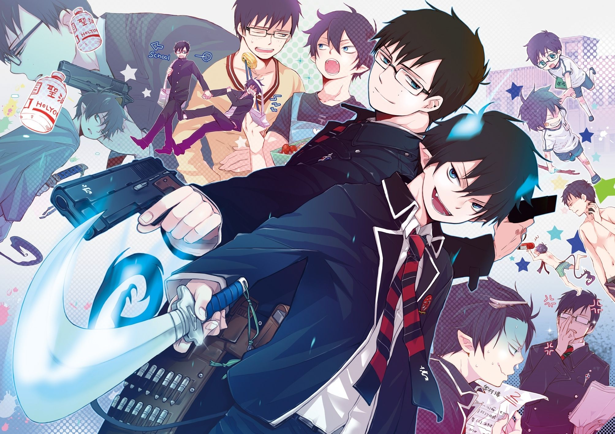 Check Out Our 270 Blue Exorcist Wallpapers And Backgrounds And Download Them On All Your Devices Computer Smartp Blue Exorcist Anime Blue Exorcist Blue Anime Download wallpaper anime ao no