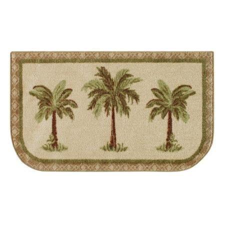 mainstays palm tree rug, multi-color - walmart