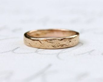 rustic mountain wedding band ring silver by peacesofindigo