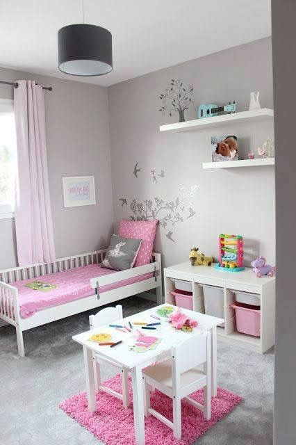 Chambre fillette rose et grise | girls bedroom ideas | Pinterest ...