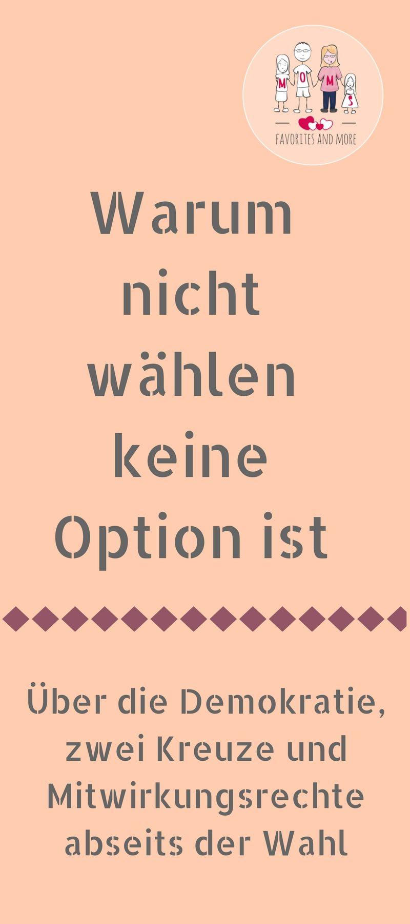 Warum nicht wählen keine Option ist #interessen