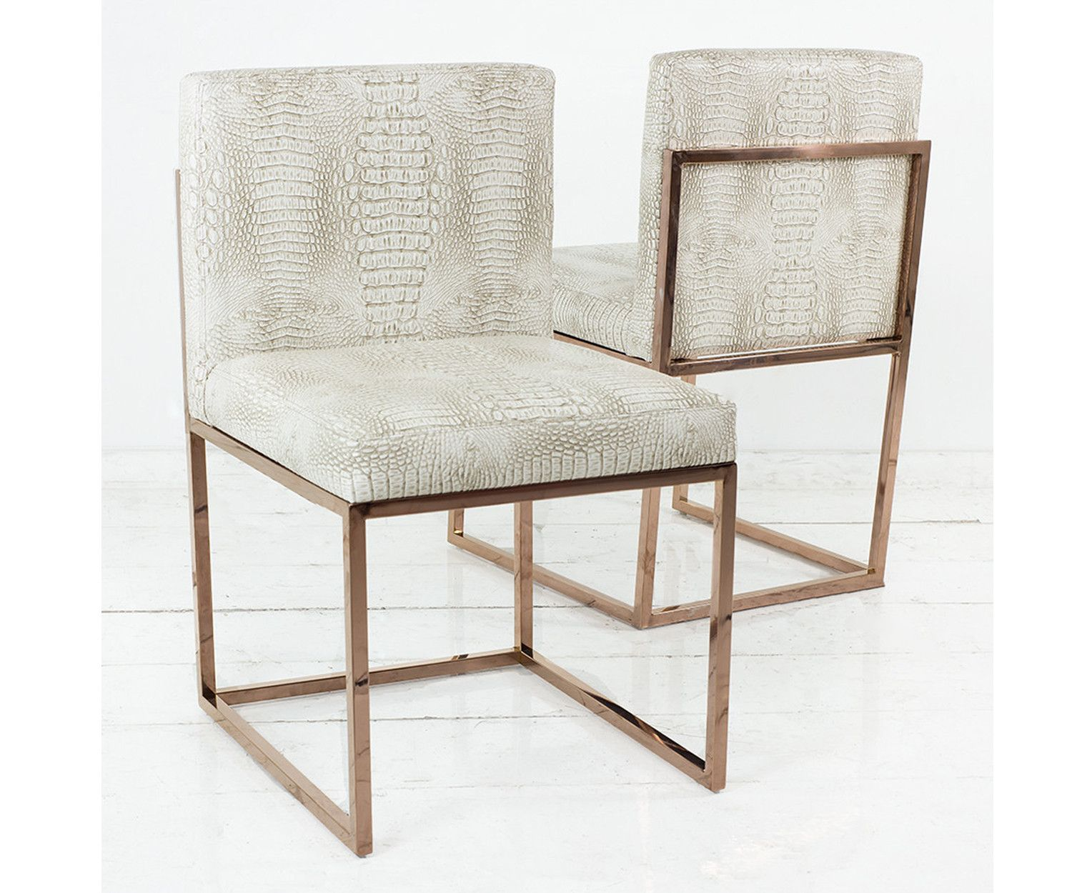 007 dining chair with rose gold frame modern dining