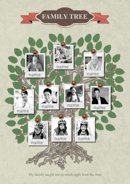This Beautifully Designed Family Tree Template Is Available For