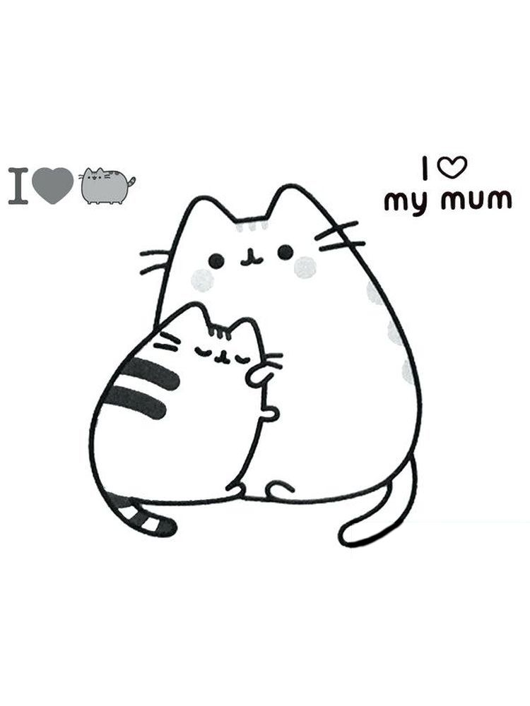 Pusheen Coloring Pages Free 1 Pusheen Is A Female Cartoon Cat That Is A Comic Material And Sticker Pusheen Coloring Pages Cute Cartoon Drawings Coloring Pages