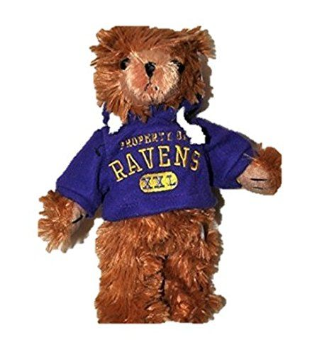 Nfl Baltimore Ravens Football Teddy Bear Wearing A Purple Nfl