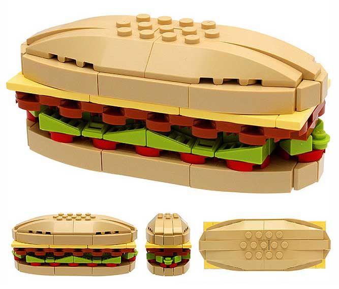 lego burger | LEGO DIVERSOS | Pinterest | Lego, Lego creations and Legos