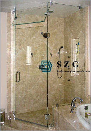 Tempered glass cut to size,10mm clear tempered glass | SZG Shower ...