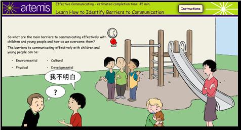 Communications training Elearning example   Design   Pinterest ...