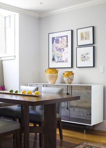 traditional dining room by Siemasko + Verbridge Kitchen& Dining Ideas Sideboard decor