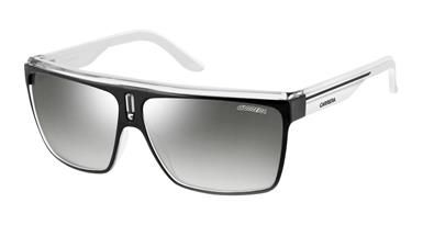 d68b94ac4c Carrera Carrera-22-S Sunglasses - Shiny Black White Sunglasses with Grey  Silver Mirror Lens