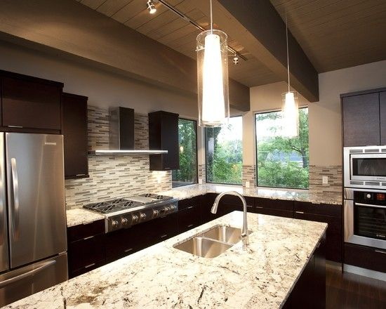 White Spring Granite and backsplash page 2 Kitchen Pinterest