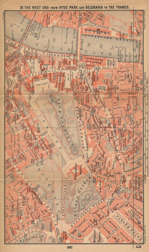 Street Map Of London Uk.1905 London Street Map London England United Kingdom London Calling