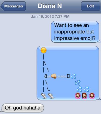 Dancing emoticon text