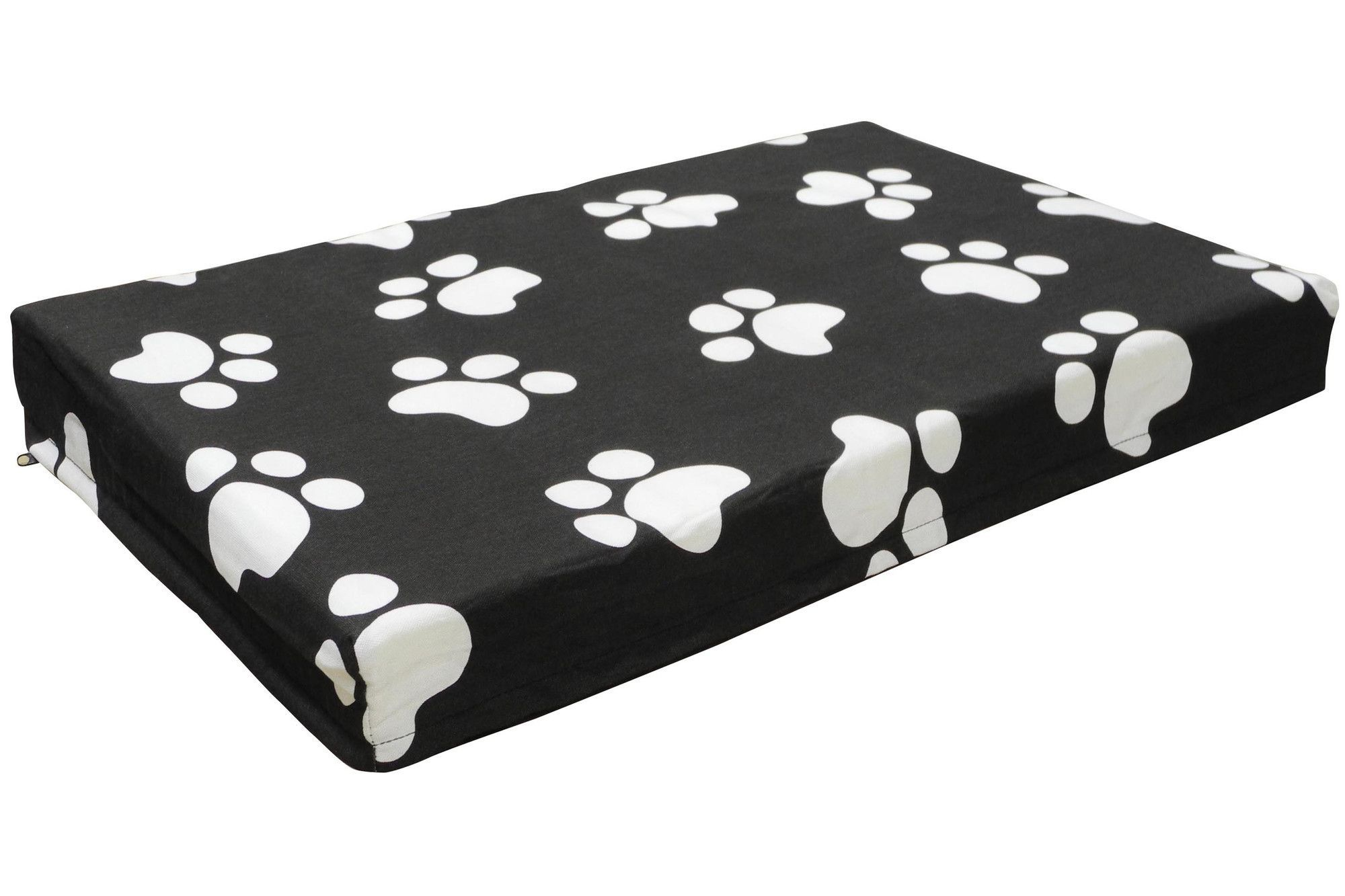 """Features:  -White and black.  -Non toxic.  -Made of polyester.  Color: -White; Black.  Bed Material: -Polyester. Dimensions: Size Small  (3"""" H x 34"""" W x 22"""" D) -  Overall Width - Side to Side: -34"""". S"""