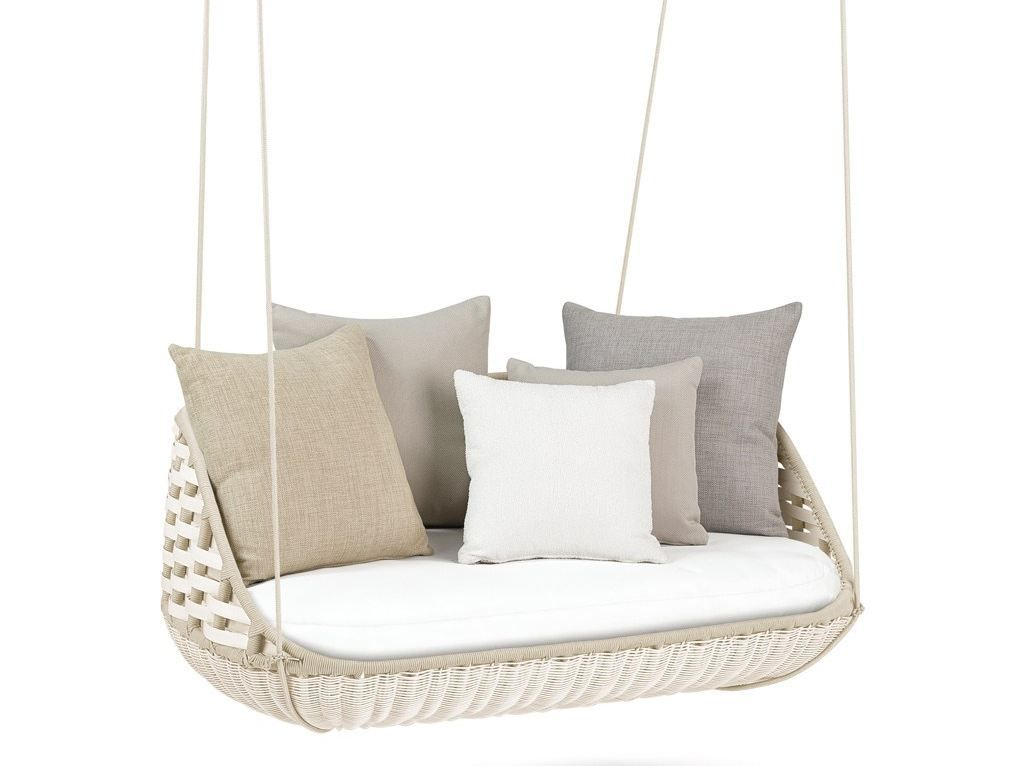 Hanging Chair Swing Captain Chairs Dining Room Modern Take The Coziness Outside Home Outdoor Swingme Garden Two Seating