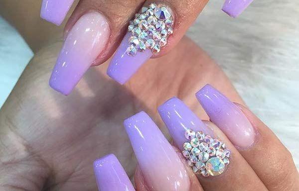Uñas Decoradas Color Lila Uñas Decoradas Pinterest Nails 2016