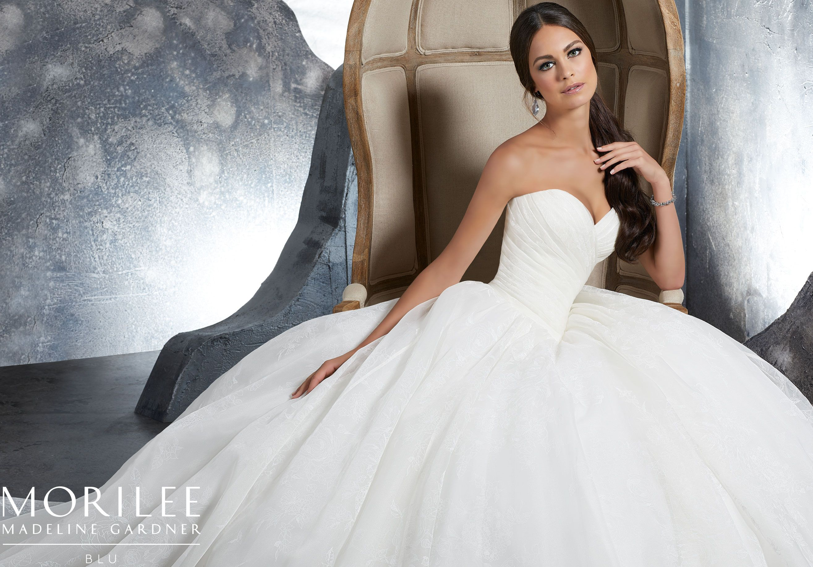Mori lee madeline gardner wedding dress  Morilee  Madeline Gardner Kalinda Style   Draped Floral
