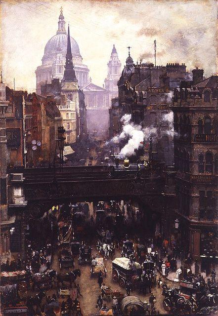 Grimy Victorian London painting | Victorian london, London history,  Victorian