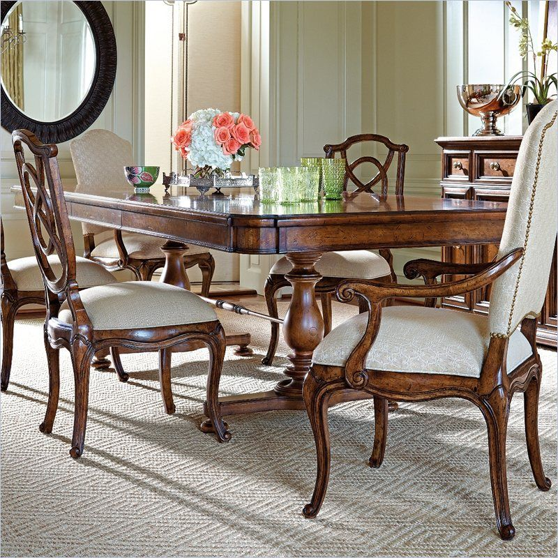 Arrondissement-Famille Pedestal Table in Heirloom Cherry - 222-11-36