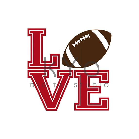 Download Football Love Tshirt design SVG PNG files, LOVE Football ...
