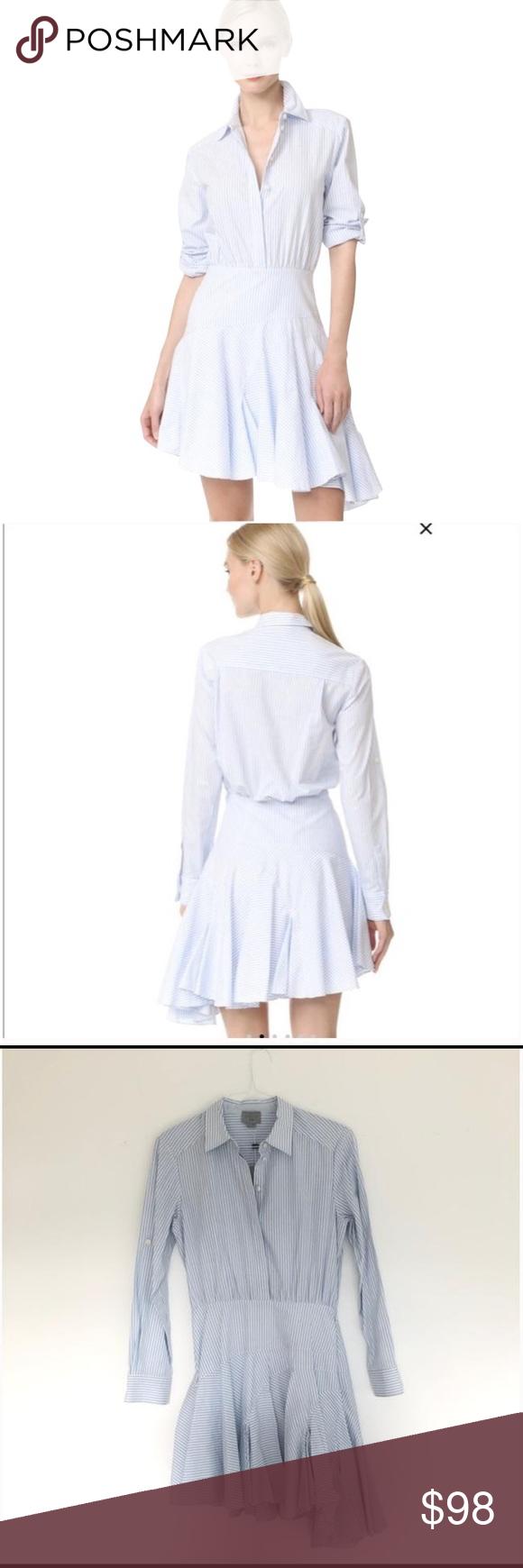 bec896db6b20 Jason Wu Striped Long Sleeve Asymmetrical Dress Jason Wu Blue Striped Long  Sleeve Asymmetrical Dress Size