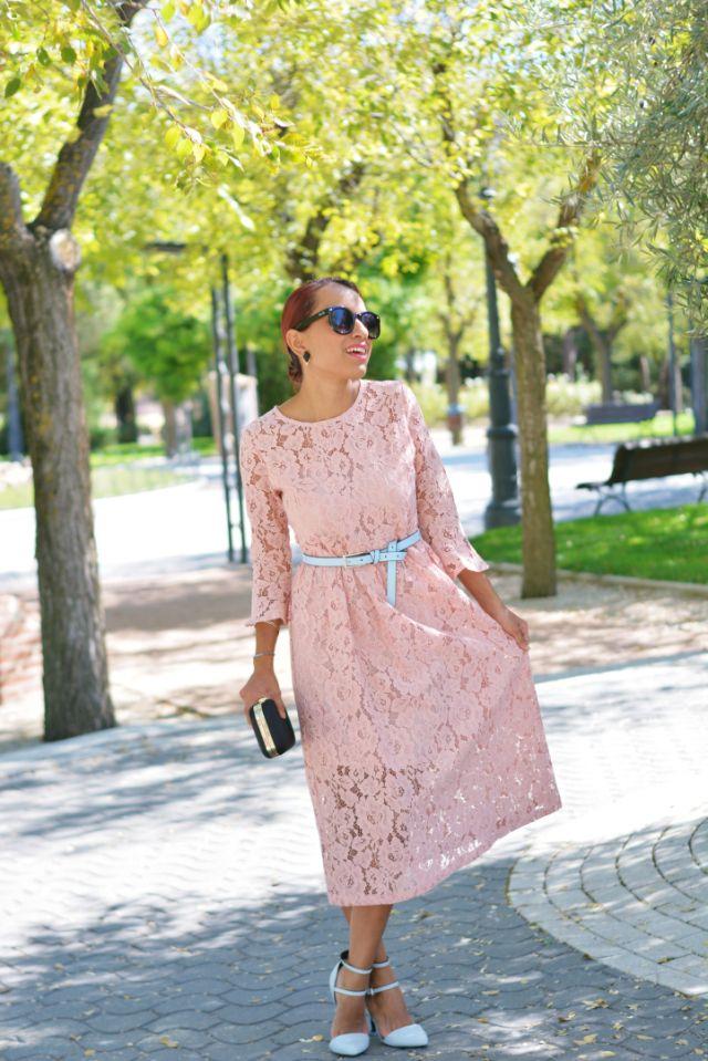 Cómo Combinar Un Vestido De Guipur Combinar Vestido Rosa