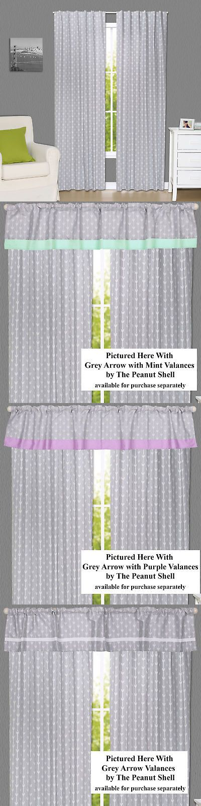 Nursery D Cor 66697 Grey Arrow Print Blackout Window Drapery Panels Two 84 X 42 Inch It Now Only 95 On Eba