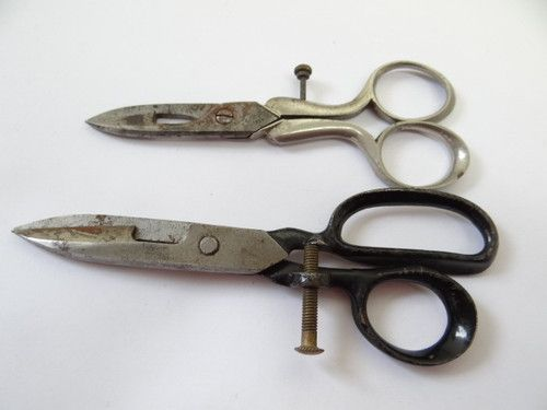 Civil War Era BS Co 1864 Graef Schmidt Solingen Button Sewing Scissors Shears
