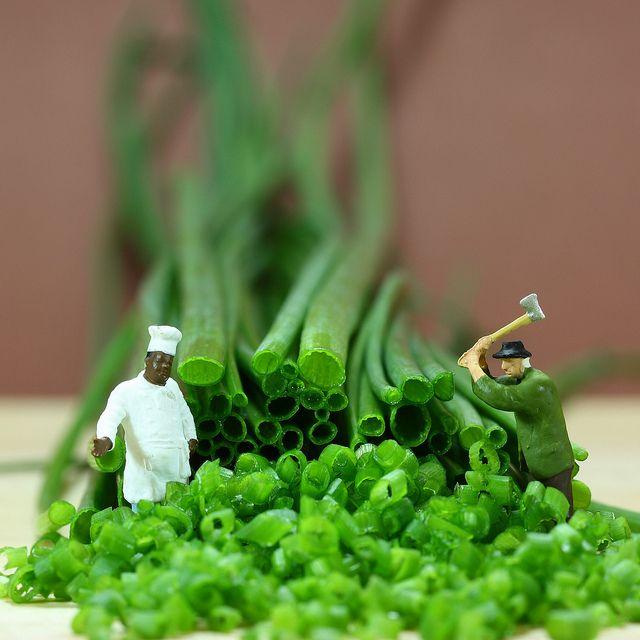 Chopping herbs by Simon Zalto