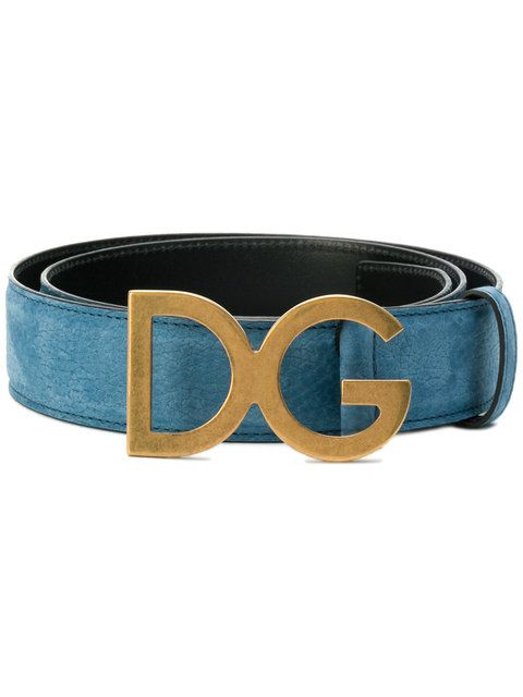20e370fc0ffb DOLCE  amp  GABBANA logo plaque belt.  dolcegabbana   Mens Blue Belt