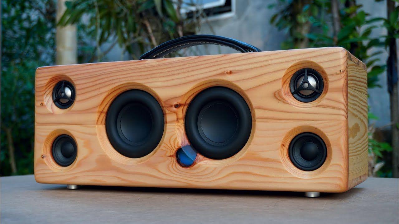 Diy bluetooth speaker using pallet wood youtube in 2020